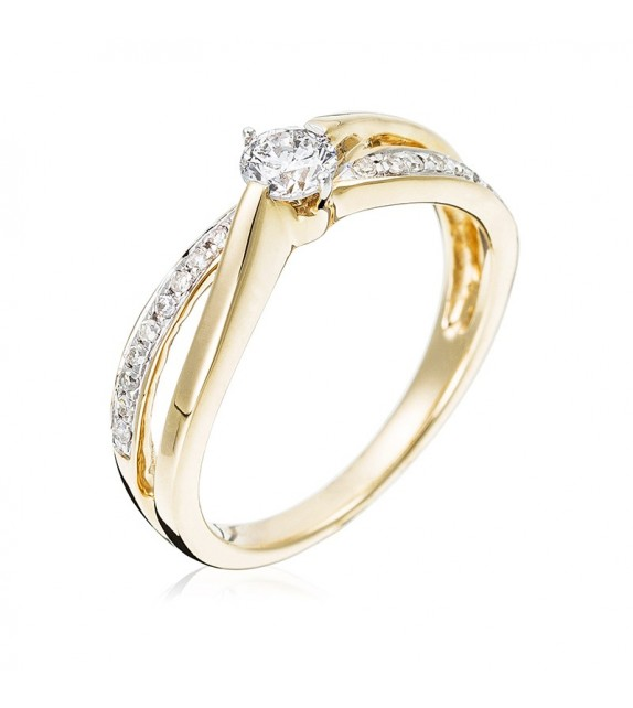 Bague Joli Solitaire Or Jaune et Diamant 0,27ct