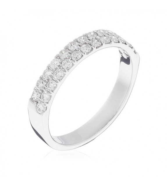Bague Alliance Pureté Or Blanc et Diamant 0,51ct