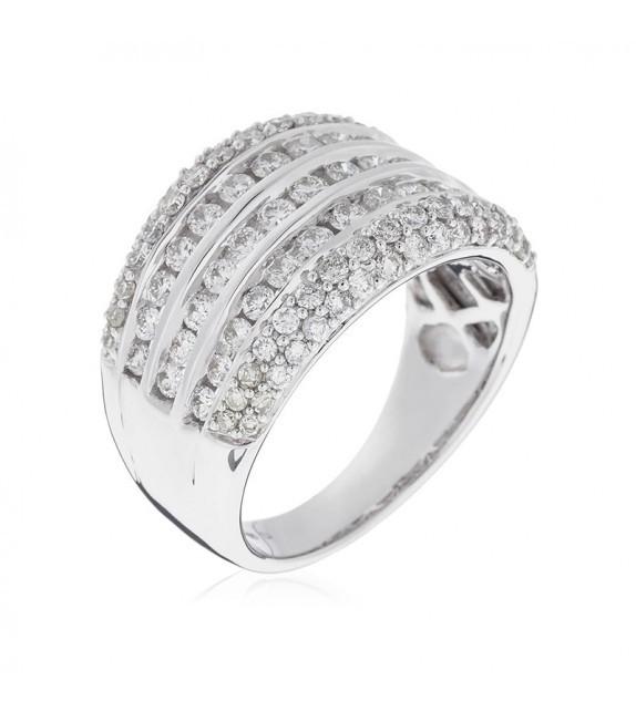 Bague Poétique Or Blanc et Diamant 1,48ct