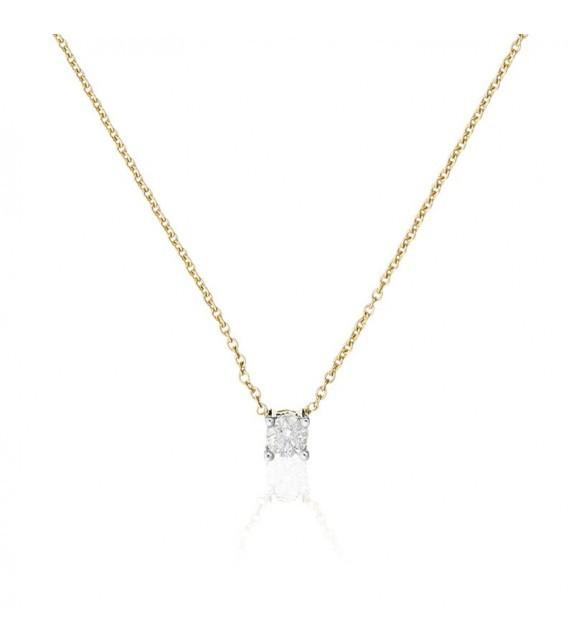 Collier Brillant damour Or Jaune et Diamant 0,2ct