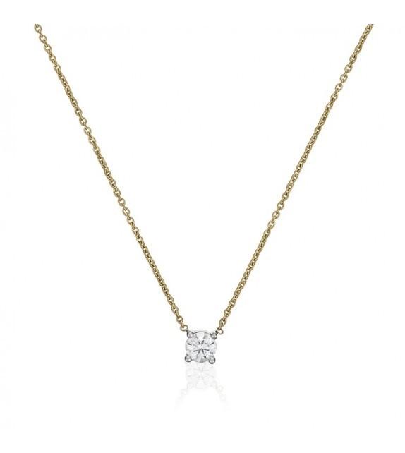 Collier Brillant damour Or Jaune et Diamant 0,33ct