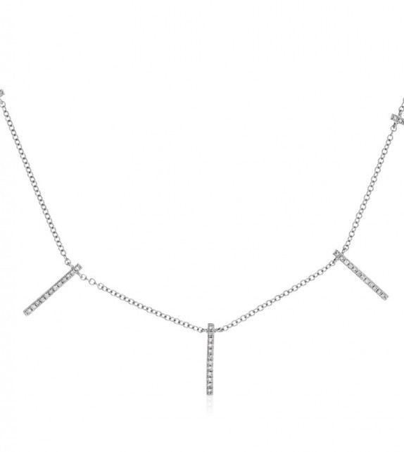 Collier Ultime Or Blanc et Diamant 0,17ct