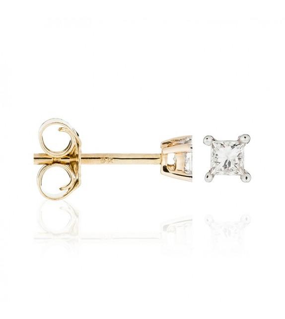 Boucles doreilles Mes puces Or Jaune et Diamant 0,1ct