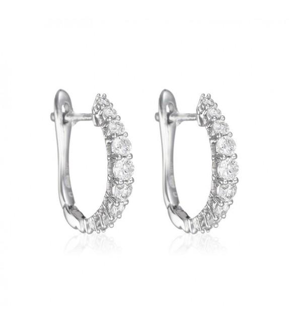 Boucles dOreilles Euphorie Or Blanc et Diamant 0,3ct