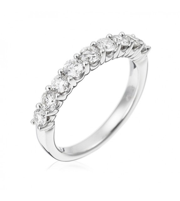 Bague Alliance Passion Or Blanc et Diamant 0,78ct
