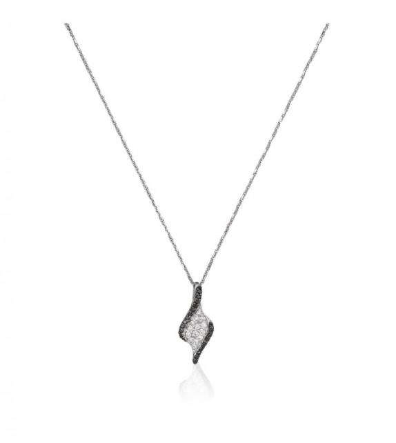 Pendentif Offer Or Blanc et Diamant 0,15ct