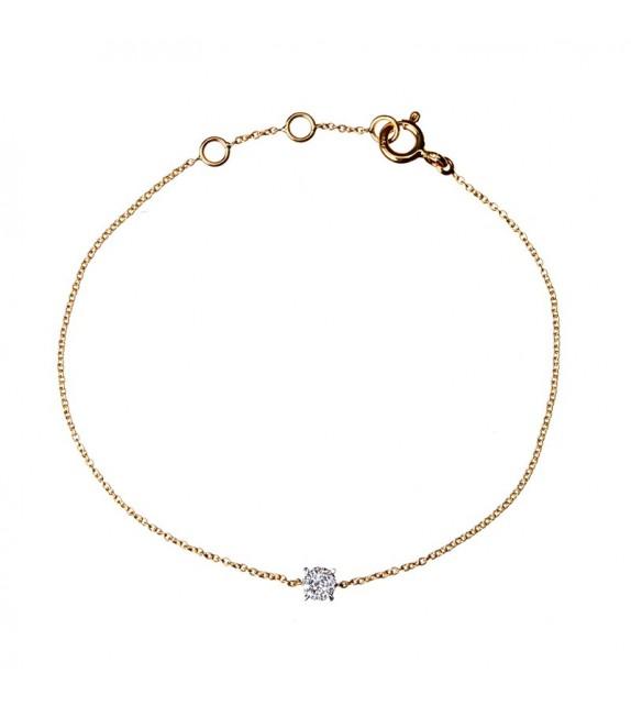 Bracelet Lessentiel Or Jaune et Diamant 0,08ct