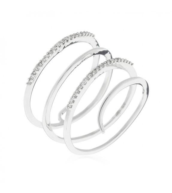 Bague Lila Or Blanc et Diamant 0,12ct