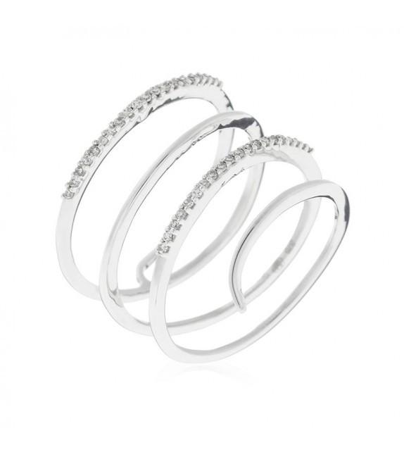 Bague Lila Or Blanc et Diamant 0,12ct