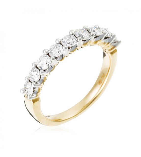 Bague Alliance Passion Or Jaune et Diamant 0,78ct
