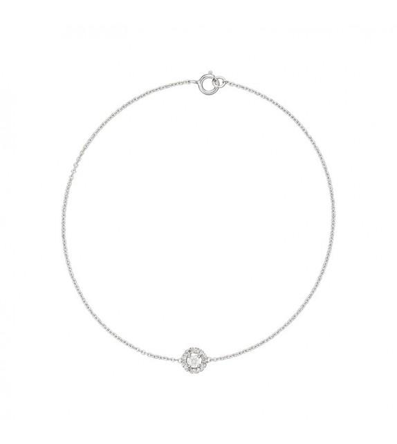 Bracelet Encerclé Or Blanc et Diamant 0,1ct