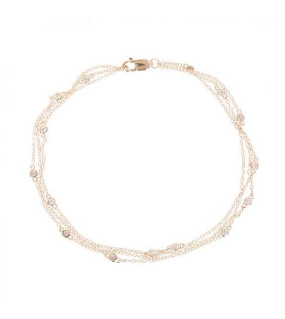 Bracelet Voie Lactée Or Jaune et Diamant 0,15ct