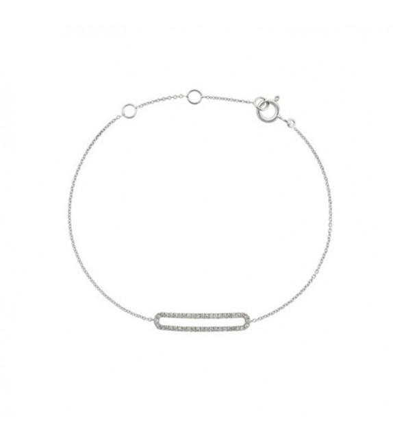 Bracelet Eternity Or Blanc et Diamant 0,14ct