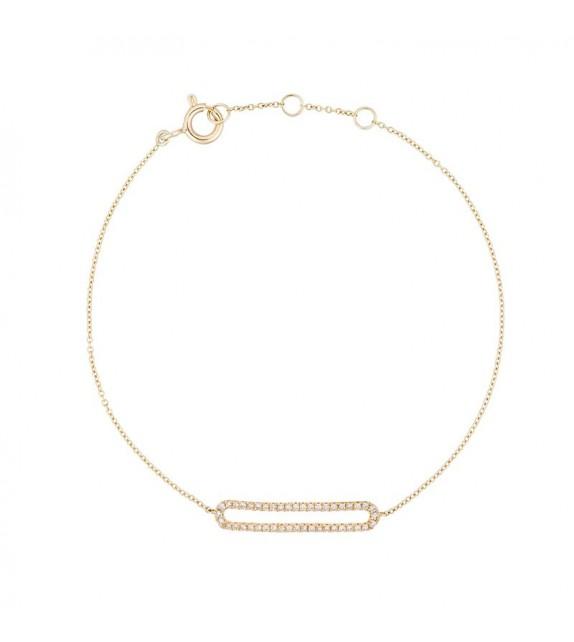 Bracelet Eternity Or Jaune et Diamant 0,14ct