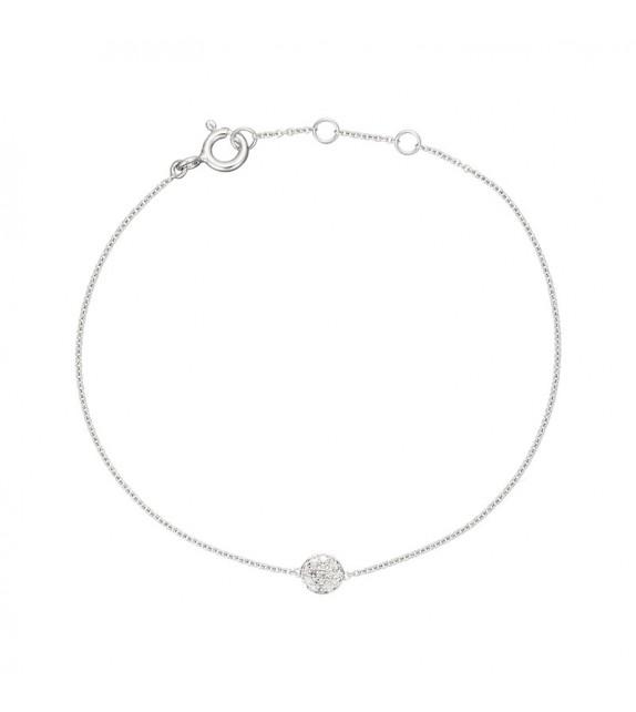 Bracelet Boule magic Or Blanc et Diamant 0,07ct