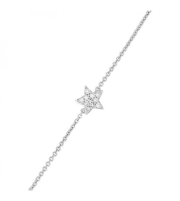 Bracelet Belle étoile Or Blanc et Diamant 0,06ct